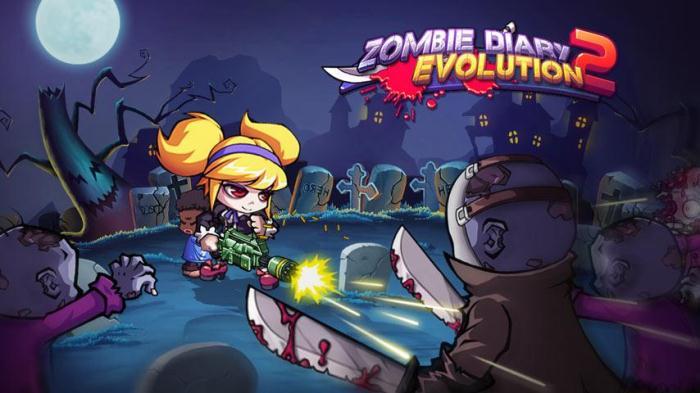 Zombie Diary 2: Evolution на android, мочи зомби!