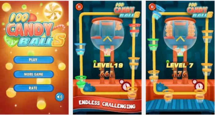 Скачать 100 шариков - 100 Candy Balls для android