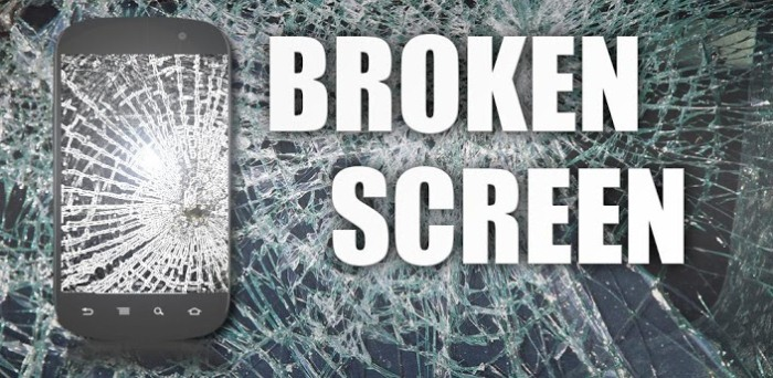 Разбитый экран для андроид, подшути над другом