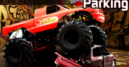 взломанная 3D Monster Truck Parking Game