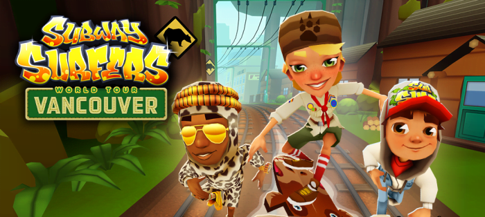 Subway Surfers Vancouver на Android, Канада привет